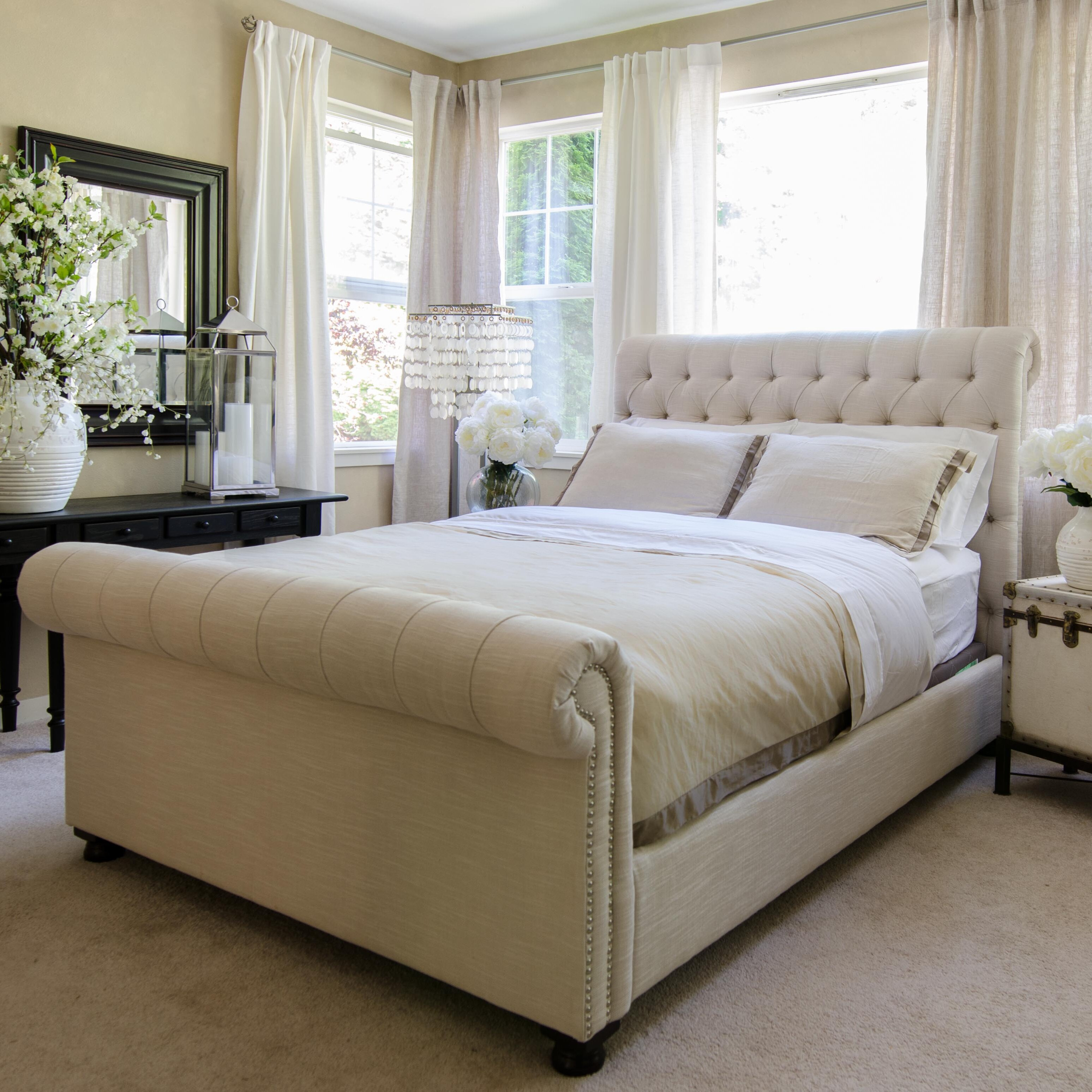 - Canora Grey Maxie Upholstered Sleigh Bed & Reviews Wayfair