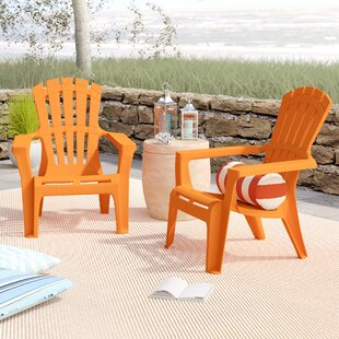 Gracelyn Plastic Adirondack Chair (Set of 2) by Turn on the Brights