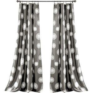 Quackenbush Geometric Rod Pocket Curtain Panels (Set of 2)