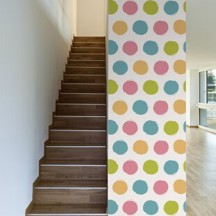 Simple Things Removable 10 X 20 Polka Dots Wallpaper