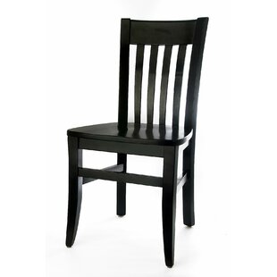 Henson Solid Wood Dining Chair (Set of 2) Breakwater Bay