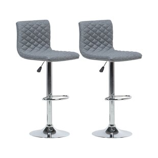 Laurel Height Adjustable Swivel Bar Stool (Set Of 2) By Metro Lane