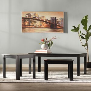 Carl 3 Piece Coffee Table Set