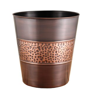 Fashion Home Hammered Tonal 3 Gallon Waste Basket
