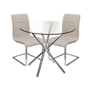 Lesa Dining Set With 2 Chairs By Metro Lane