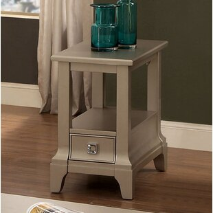 Everly Quinn Sheehan End Table with Storage