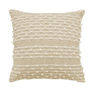 Pemberly Embellished 100% Cotton Throw Pillow