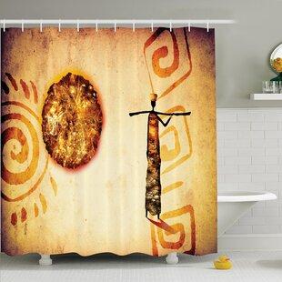 Jodie Tribal Shower Curtain ByBloomsbury Market