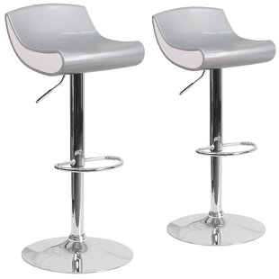 Read Reviews Greensboro Adjustable Height Swivel Bar Stool (Set of 2) By Latitude Run