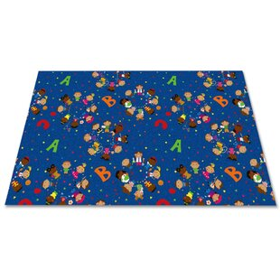 Pineview We'Re All Friends Blue/Yellow/Green Area Rug By Zoomie Kids