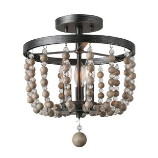 Beshears Beaded 3-Light Semi F..