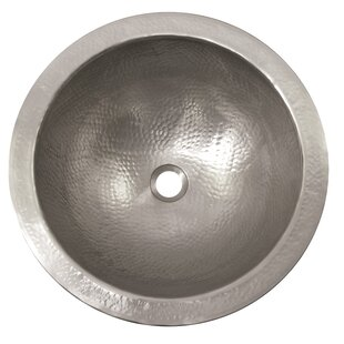 Metal Circular Drop-In Bathroom Sink with Overflow ByThe Copper Factory