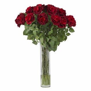 Extra tall floral arrangements wayfair large rose silk floral arrangements mightylinksfo