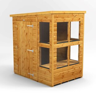 6 Ft. W X 4 Ft. D Solid Wood Garden Shed By WFX Utility