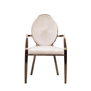 Everly Quinn Fraise Upholstered Dining Chair (Set of 2)