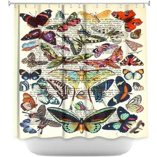 Butterflies Collection Shower Curtain ByDiaNoche Designs