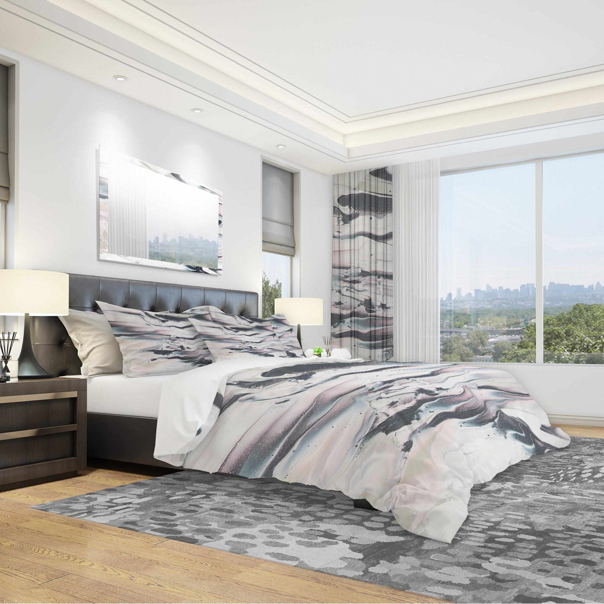 East Urban Home Marbling V Duvet Cover Set Wayfair