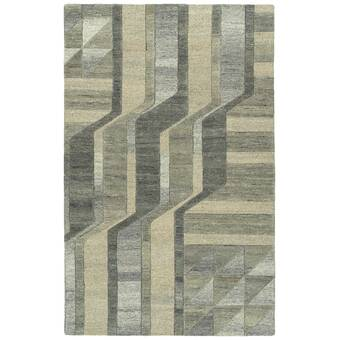 Foundry Select Wilkinson Hand Knotted Wool Brown Area Rug Wayfair