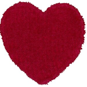 Senses Shag Pink Heart Area Rug