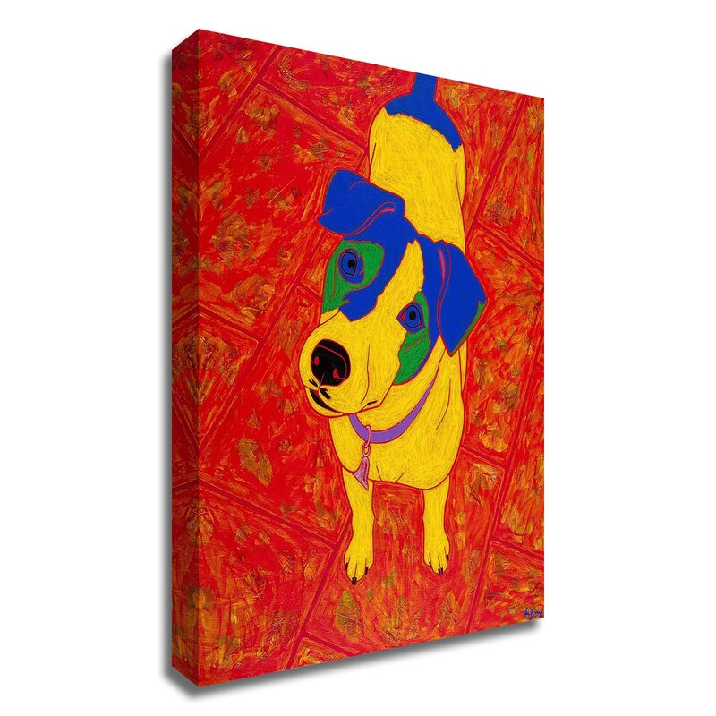 Winston Porter Feisty Jack Russell By Angela Bond Wrapped Canvas Painting Print Wayfair
