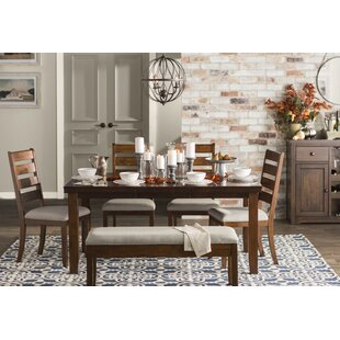 Loon Peak Geduhn 6 Piece Extendable Dining Set