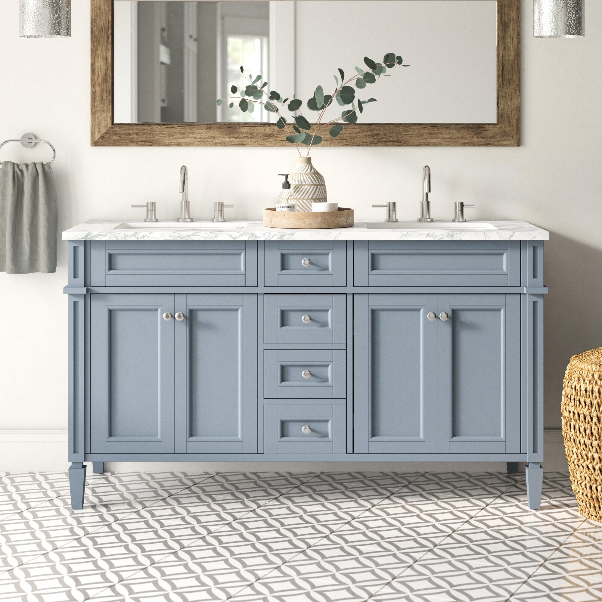 Mistana Mauricio French 60 Double Bathroom Vanity Set Reviews Wayfair