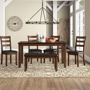 Carolina 6 Piece Dining Set Millwood Pines