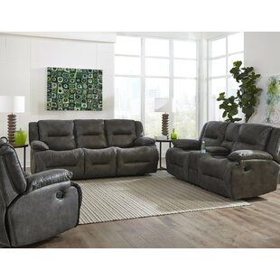 Darby Home Co Finlay Reclining Motion 3 Piece Living Room Set