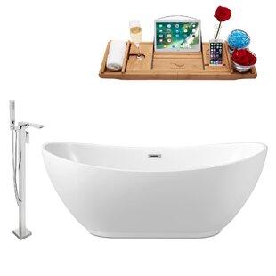 62 x 24 Freestanding Soaking Bathtub By Wildon Home ®