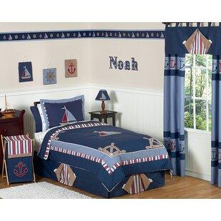 Nautical Nights 4 Piece Twin Comforter Set