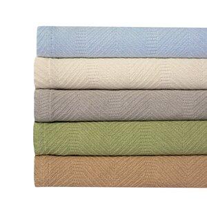 Hadley Herringbone Weave 100% Cotton Blanket