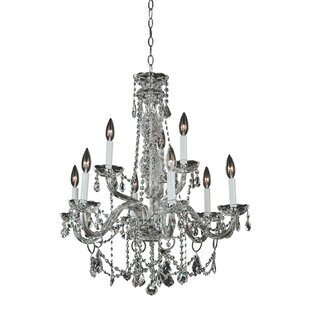 Glow Lighting Candle Style Palace 9-Light Candle Style Chandelier