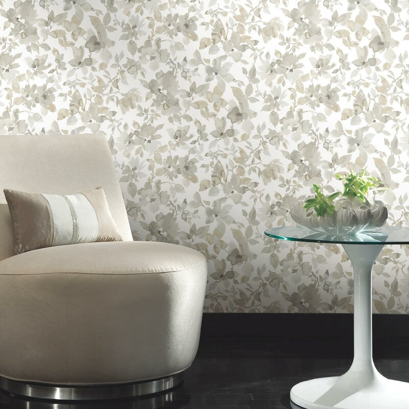 Charlton Home Cansler Floral Peel And Stick Wallpaper Roll Reviews Wayfair