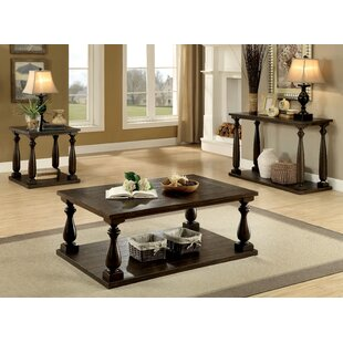 Branson 3 Piece Coffee Table Set Red Barrel Studio
