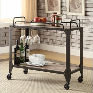 17 Stories Lindeman Wood Serving Bar Cart