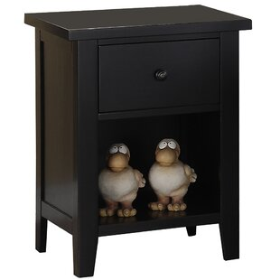 Willacoochee 1 Drawer Nightstand by Three Posts