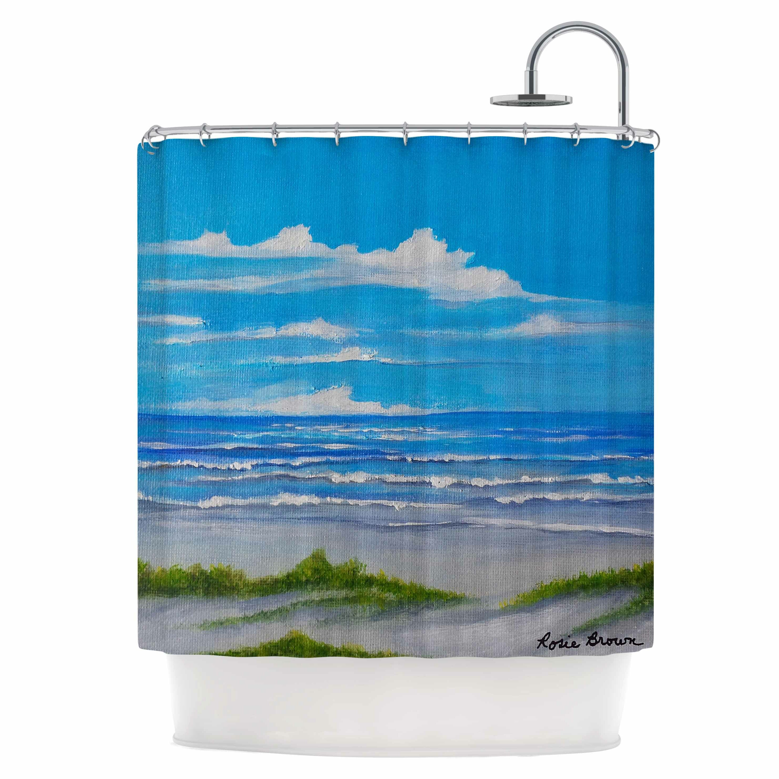 East Urban Home Sanibel Island Shower Curtain