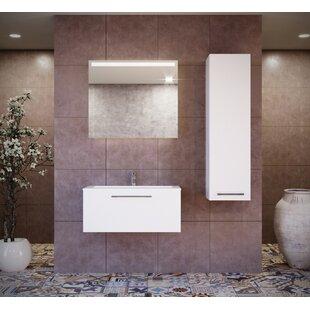 Pruneda 13.78 W x 49.21 H Wall Mounted Cabinet by Brayden Studio