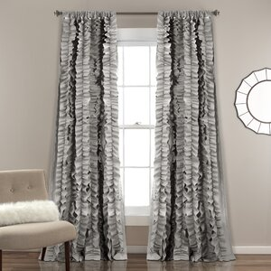 Clarksville Solid Rod Pocket Single Curtain Panel