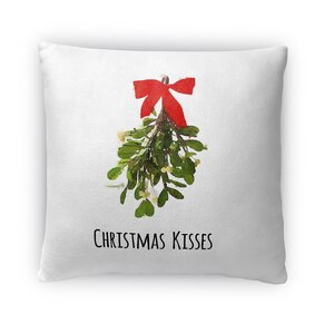 Christmas Kisses Fleece Throw Pillow