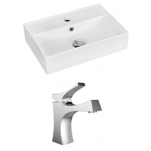 Ceramic 14 Wall Mount Bathroom Sink with Faucet and Overflow Royal Purple Bath Kitchen