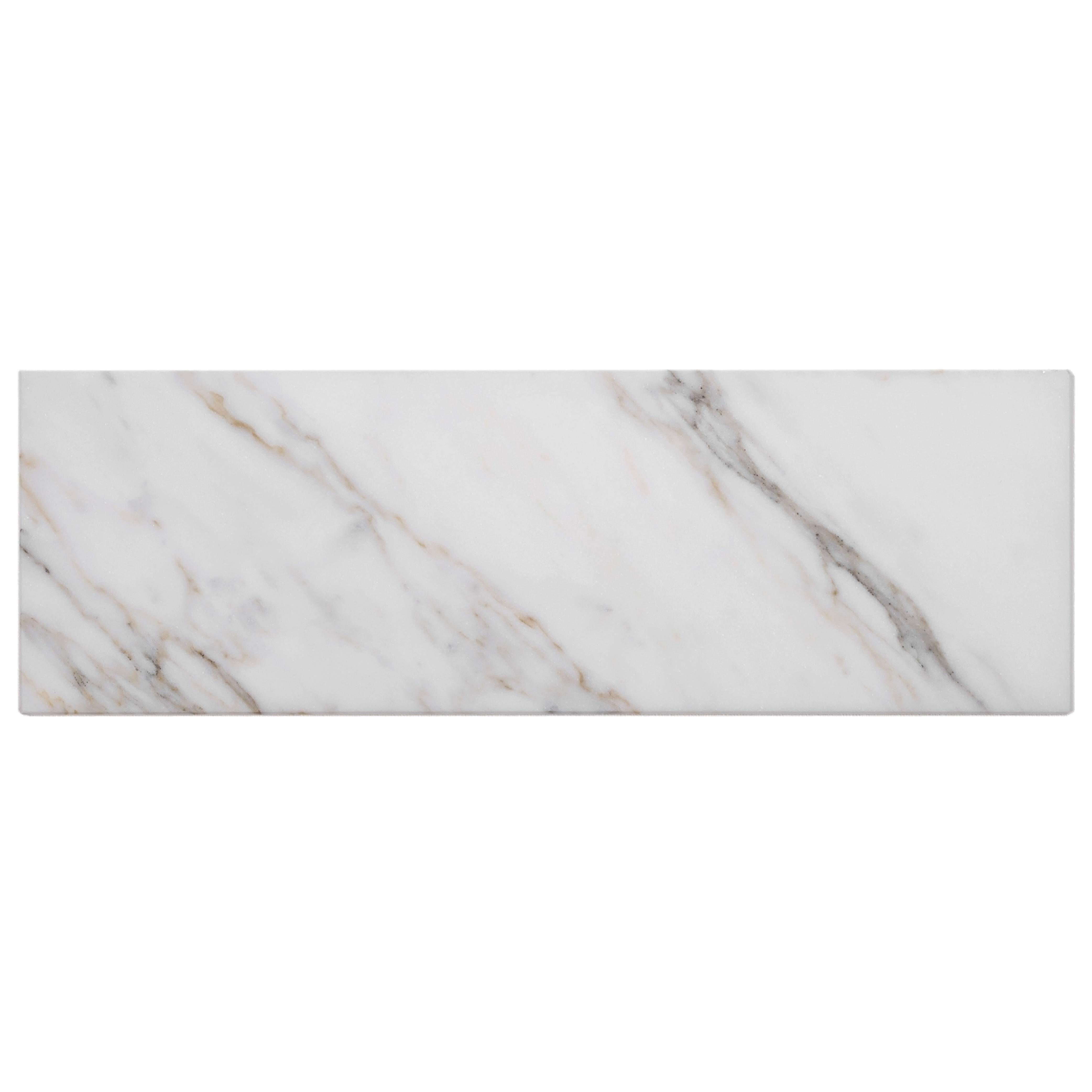 apollo tile backsplash tiles sheet 12 x 4 calacatta gold tile for kitchen bathroom flooring calacatta honed subway white grey 15 pack wayfair