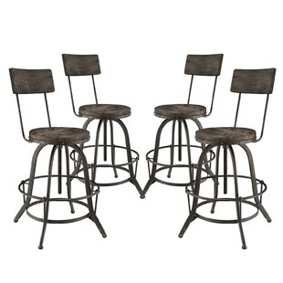 Procure Adjustable Height Swivel Bar Stool (Set of 4) Modway