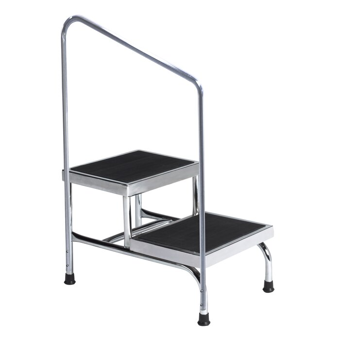 Awe Inspiring 2 Step Steel Step Stool With 600 Lb Load Capacity Ocoug Best Dining Table And Chair Ideas Images Ocougorg