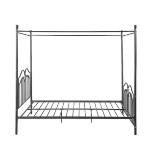 Mattos Traditional Iron Queen Canopy Bed