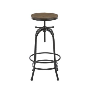 Kaylan Adjustable Height Swivel Bar Stool by Williston Forge