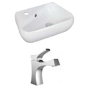 Read Reviews Specialty Ceramic Specialty Vessel Bathroom Sink with Faucet and Overflow ByAmerican Imaginations