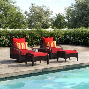 Cerralvo 5 Piece Sunbrella Conversation Set with Cushions