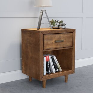 Top Reviews Glasser Retro Wood 1 Drawer Nightstand by George Oliver