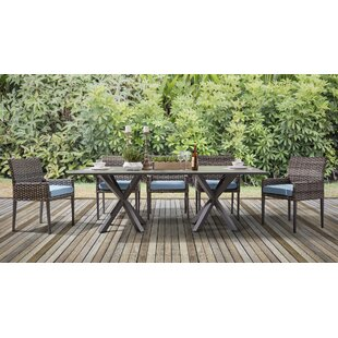 Doyle 8 Piece Sunbrella Patio Dining Set with Cushions by Rosecliff Heights